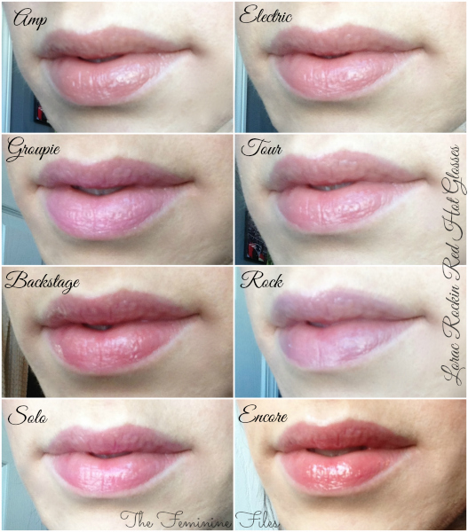 lorac lip swatch Collage